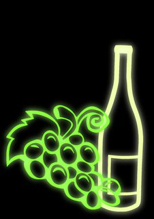 Free Wine Bottle And Grapes Stock Photos - 8124463