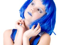 Free Blue Girl With Attitude Stock Photography - 8124762
