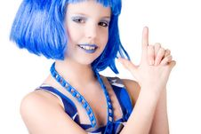 Free Blue Bond Girl Royalty Free Stock Photo - 8124805