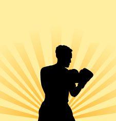 Free Boxer Athlete Background Stock Photos - 8125363