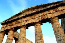 Segesta S Ancient Greek Temple, Italy Royalty Free Stock Images