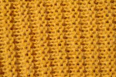 Free Yellow Knitted Wool Texture Royalty Free Stock Image - 8126126