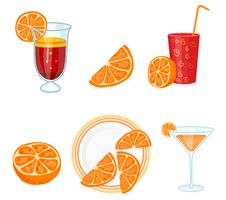 Free Set With Oranges Royalty Free Stock Photo - 8126345