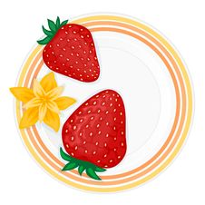 Free Plate With Strawberries Stock Image - 8126541