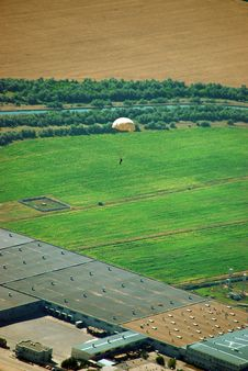 Free Landscape And Paratrooper Royalty Free Stock Photos - 8126658