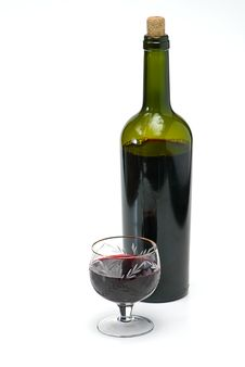 Free Wine Bottle And Wineglass Stock Images - 8126764