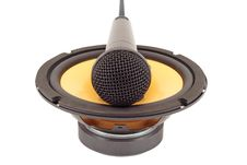 Free Microphone On The Speaker. Straight View. Stock Images - 8126964