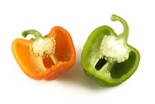 Capsicum Pieces Royalty Free Stock Images