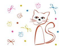 Vector Designwith Cat Royalty Free Stock Photography