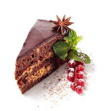 Free Chocolate Iced Pie Royalty Free Stock Photos - 8127968