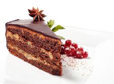 Free Chocolate Iced Pie Royalty Free Stock Image - 8127976