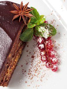 Free Chocolate Iced Pie Stock Image - 8127991
