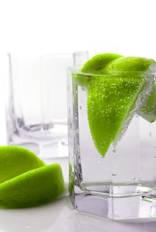 Free Water With Lime Stock Photos - 8128293