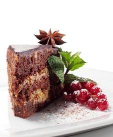 Free Chocolate Iced Pie Royalty Free Stock Photo - 8128345