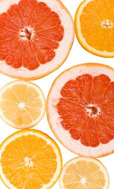Lemon, Orange And Grapefruit Stock Images