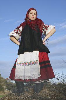 Village Girl Stock Photo