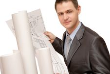 Free Young Architect At The Work Stock Images - 8129194
