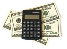 Free Dollars And  Calculator Stock Photography - 8129282