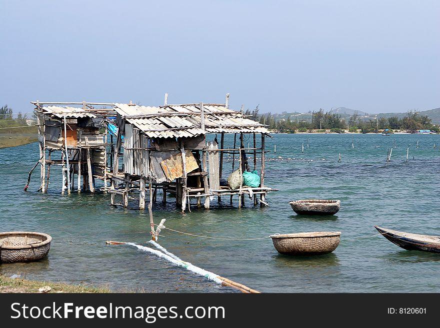 Vietnam fishing hut
