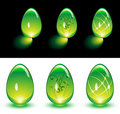 Free Green Glass Eggs Stock Photography - 8132042