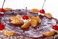 Free Fruit Cake With Desert Cherry Royalty Free Stock Image - 8134336