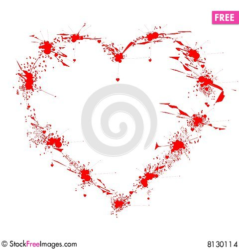 Free Ink-spot Heart Stock Images - 8130114