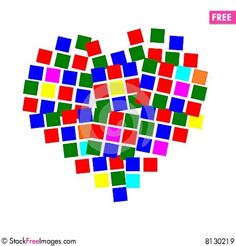 Free Square Heart Royalty Free Stock Images - 8130219