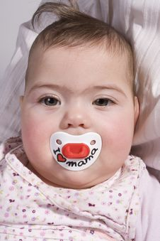 Baby With Teat Stock Photos