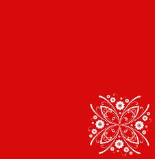 Free Red Floral Abstract Background Royalty Free Stock Images - 8130429