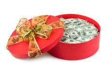 Free Gift With Money Royalty Free Stock Photo - 8130555