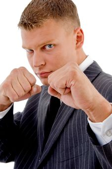 Free Businessman Boxing Gesture Stock Photo - 8131310