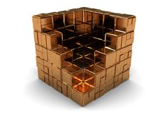 Free Abstract Golden Cube Stock Photos - 8131543