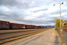 Free Railroads In Whitefish Station 1 Stock Photos - 8132173