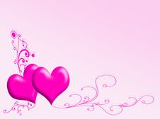 Free Hearts Background Royalty Free Stock Image - 8132936