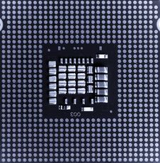 Macro Of Cpu Processor Stock Images