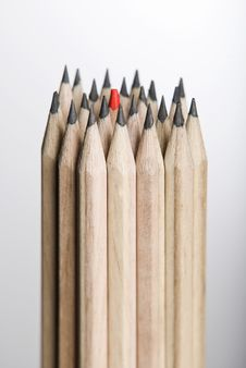 Free Single Red Pencil Stock Photography - 8134952