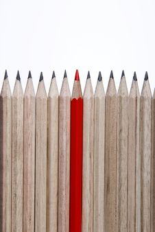 Free Single Red Pencil 2 Royalty Free Stock Photos - 8134968