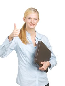 Free Business Woman Thumbs Up Royalty Free Stock Images - 8135009