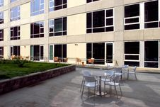 Free A Modern Loft Courtyard Royalty Free Stock Photos - 8135278