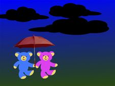 Free Mr And Mrs Teddy Bear Royalty Free Stock Photo - 8135595