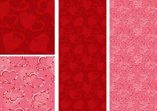 Free Seamless Backgrounds With Hearts Royalty Free Stock Photo - 8135825