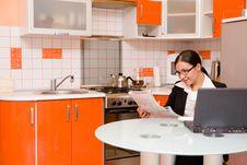 Free Businesswoman In Kitchen Royalty Free Stock Photo - 8135985