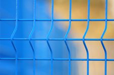 Free Blue Metal Fence Close Up Stock Images - 8135994
