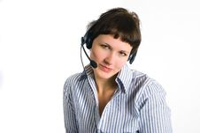 The Employee Of The Call Center Stock Image