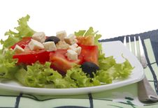 Free Salad With Tomato, Cheese, Olive Royalty Free Stock Image - 8136636