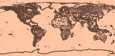 Vintage World Map Royalty Free Stock Image