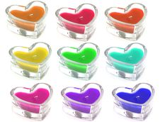 Heart Shaped Candles Royalty Free Stock Photos