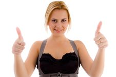 Free Female Showing Thumbs Up Royalty Free Stock Photos - 8138848