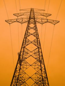 Free High Voltage Power Line Stock Photo - 8139040