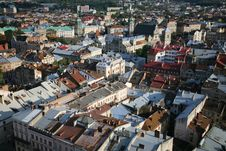 Free City View Of Lvov Royalty Free Stock Photography - 8139157